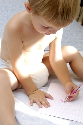 Stock Photo: 4252-27298 Little boy drawing