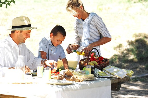 Stock Photo: 4252-2833 Family lunch outside