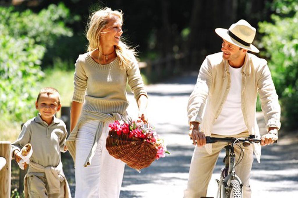 Family walk : Stock Photo