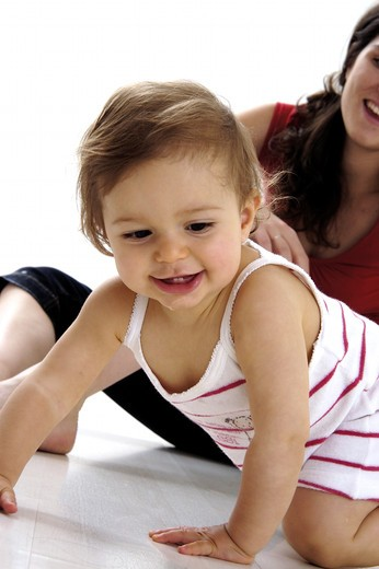 Stock Photo: 4252-29182 Baby on all fours