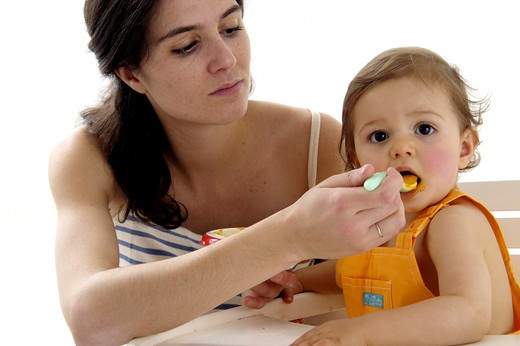 Stock Photo: 4252-29241 Baby meal