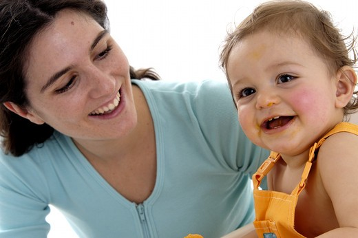 Stock Photo: 4252-29254 Mother baby meal