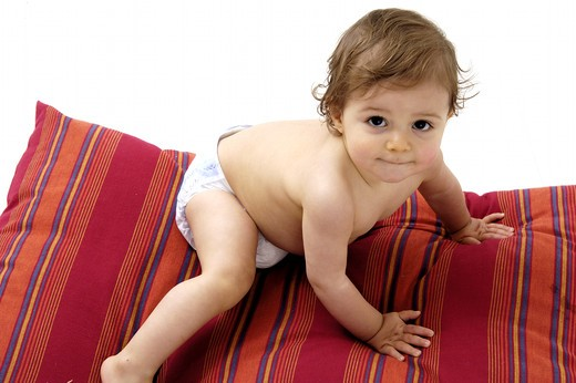 Stock Photo: 4252-29271 Baby cushion playing