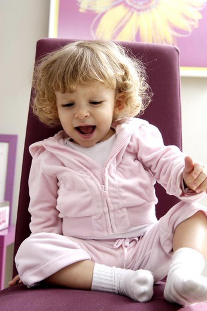 Stock Photo: 4252-29437 Little girl chair