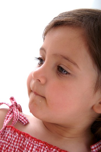 Stock Photo: 4252-29789 Little girl thinking