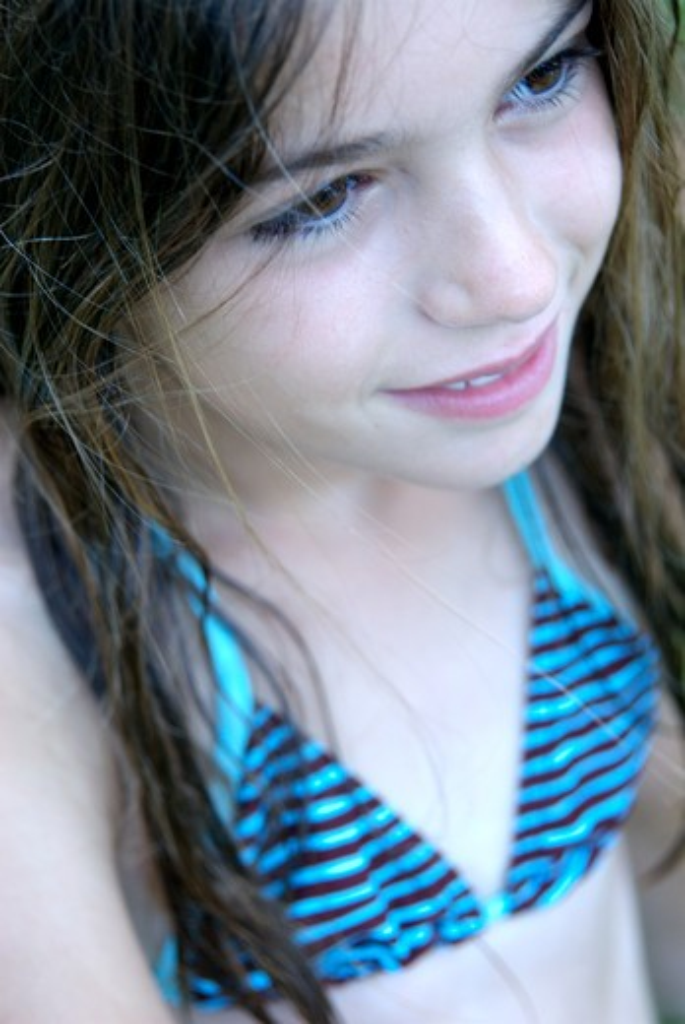 Contemplative girl : Stock Photo