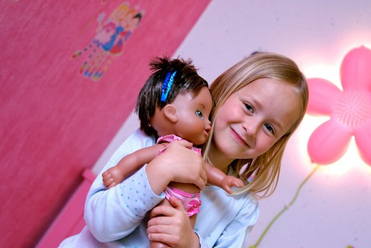 Little girl doll. : Stock Photo