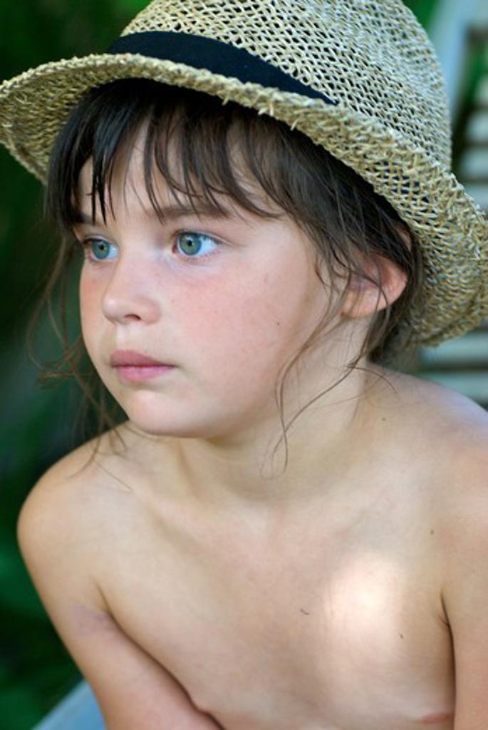 Little girl hat : Stock Photo