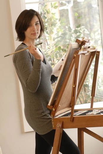 Stock Photo: 4252-316 Woman painting
