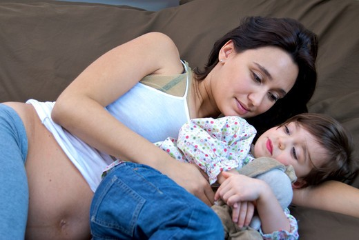 Stock Photo: 4252-31798 Mother daughter tenderness
