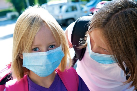 Stock Photo: 4252-32277 Children anti-contagion masks