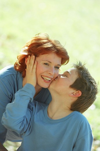 Stock Photo: 4252-3236 Mother and son, portrait.