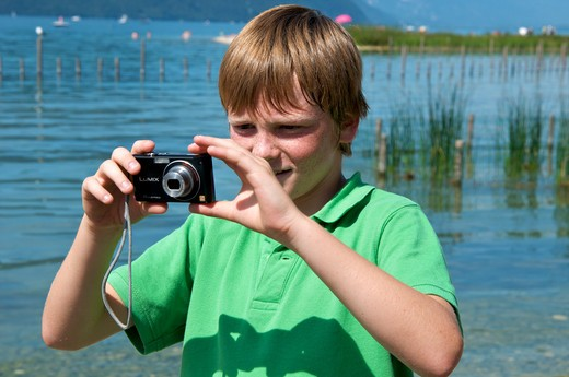Stock Photo: 4252-32633 Child camera