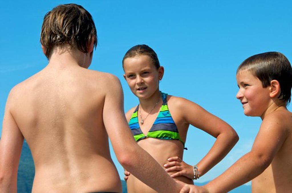 Stock Photo: 4252-32636 Children beach holidays