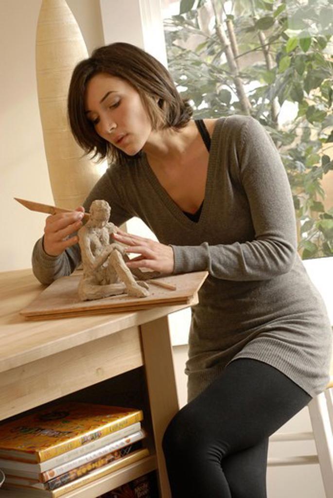 Stock Photo: 4252-330 Woman sculpture