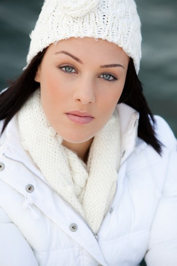 Stock Photo: 4252-33385 Woman winter portrait