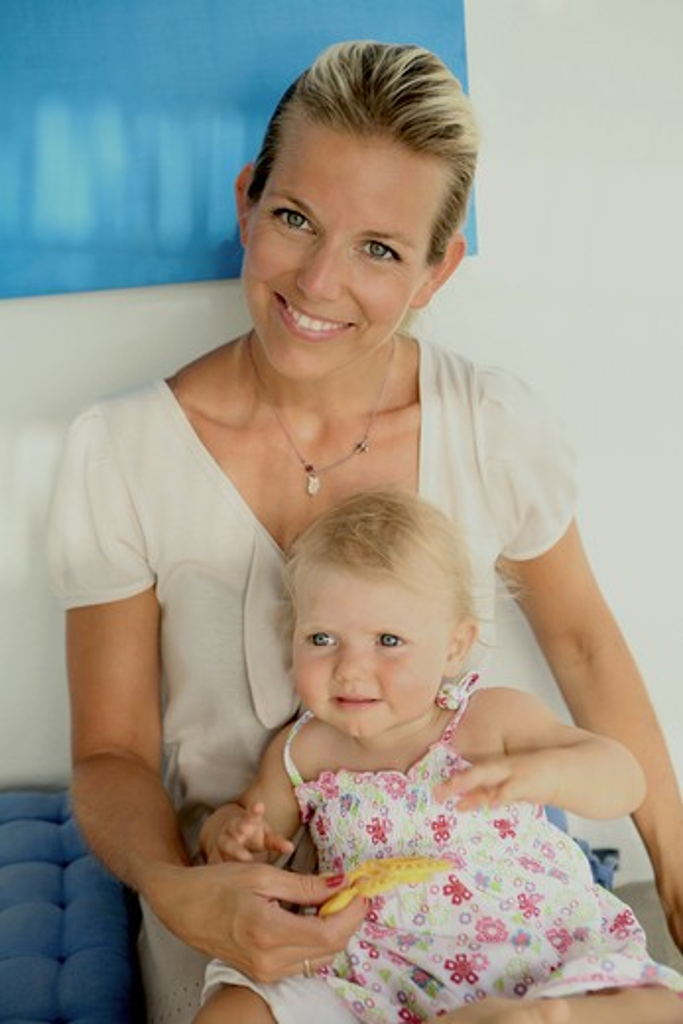 Stock Photo: 4252-33448 Woman baby girl