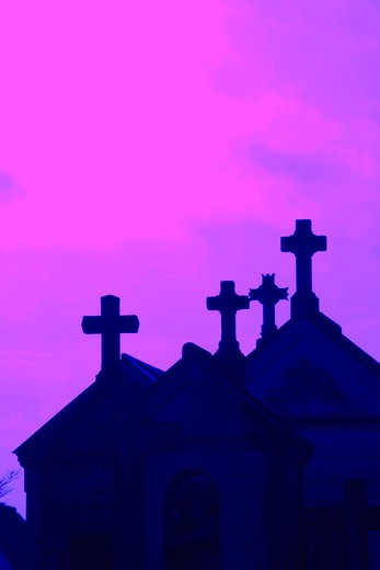 Stock Photo: 4252-34184 Graveyard cross