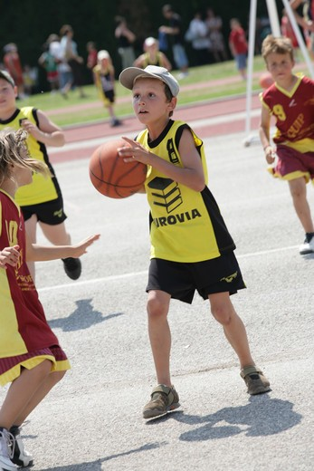 Children basketball : Stock Photo