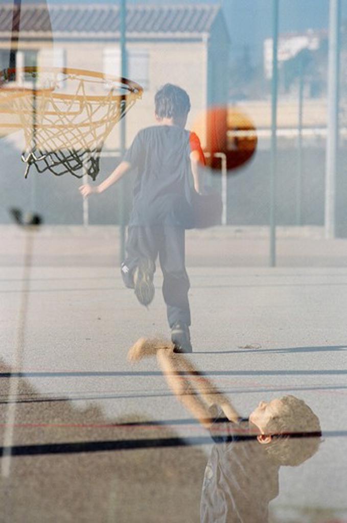Stock Photo: 4252-3563 Child basketball