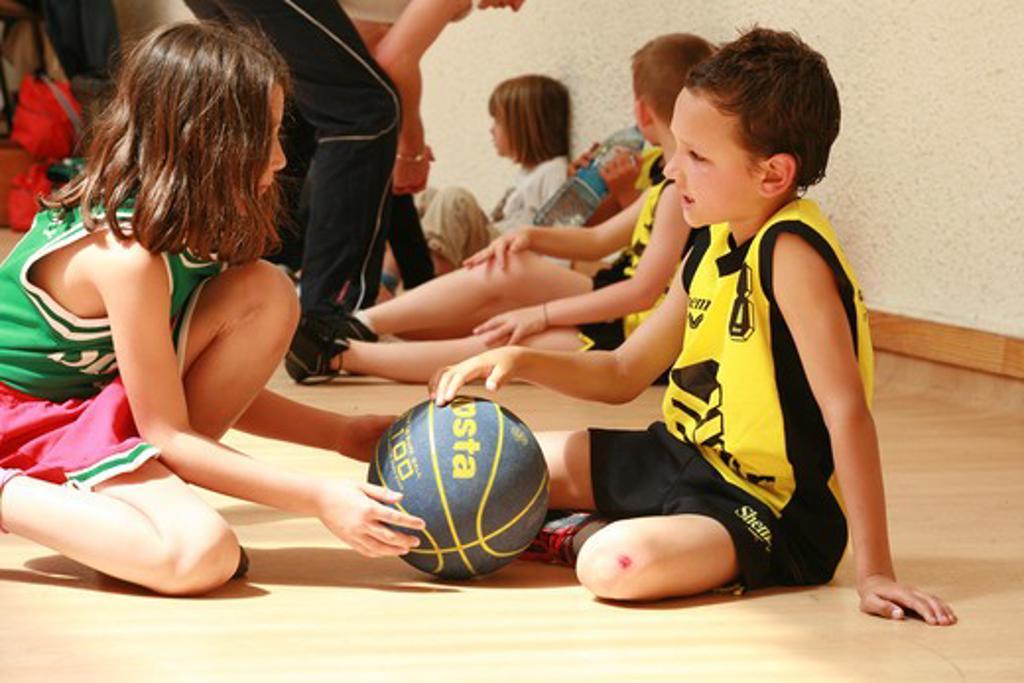Stock Photo: 4252-3595 Children basketball