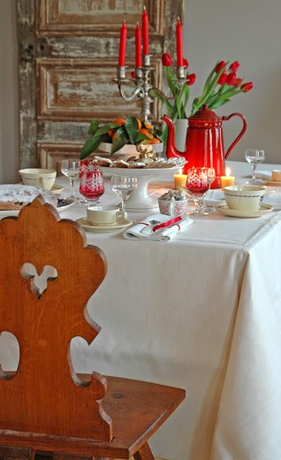 Stock Photo: 4252-36936 Set table Christmas