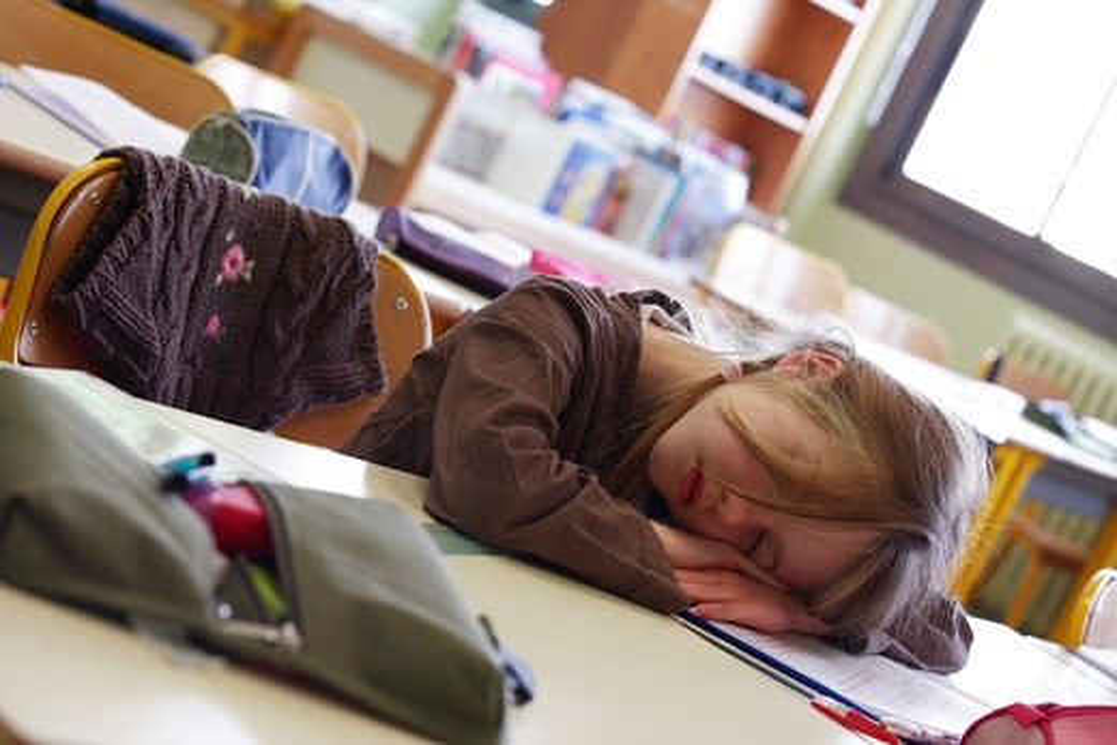 Stock Photo: 4252-3744 Little girl school.