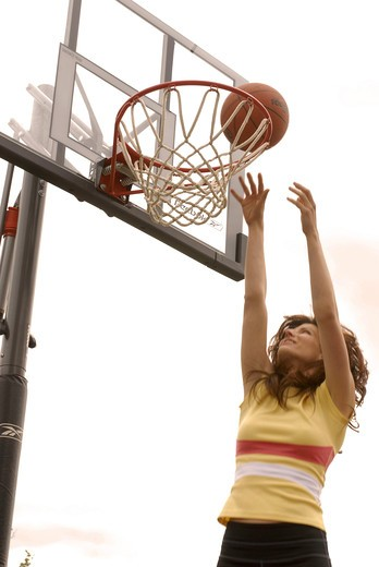 Stock Photo: 4252-384 Woman basketball
