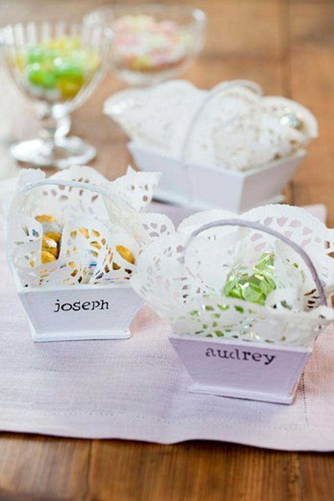 Stock Photo: 4252-38477 Easter teatime decor