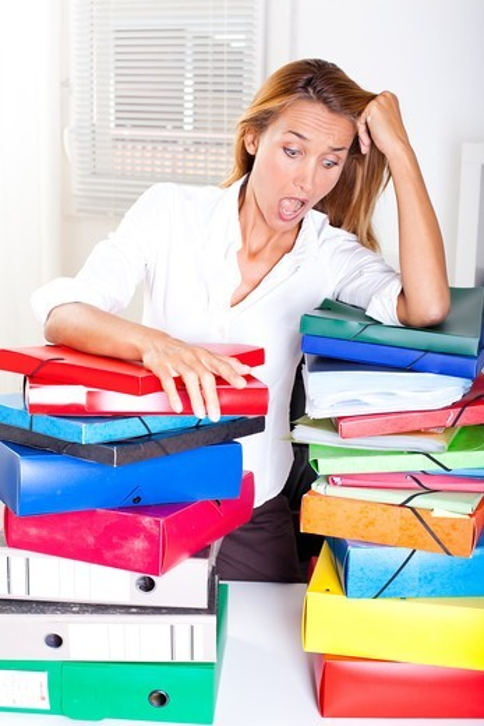 Woman overwork : Stock Photo