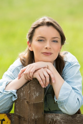 Stock Photo: 4252-41773 Woman portrait nature summer