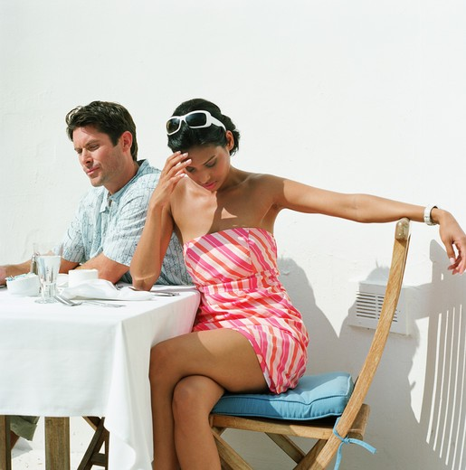 Stock Photo: 4252-6204 Couple restaurant