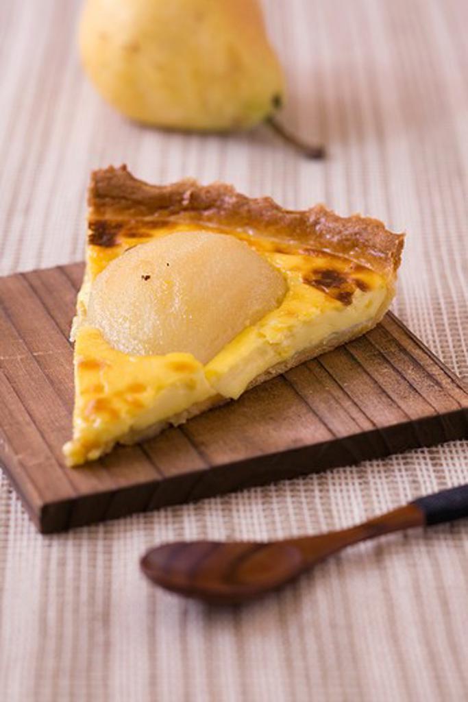Pear pie, Normandie : Stock Photo