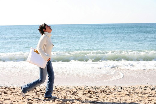 Stock Photo: 4252-7504 Woman beach