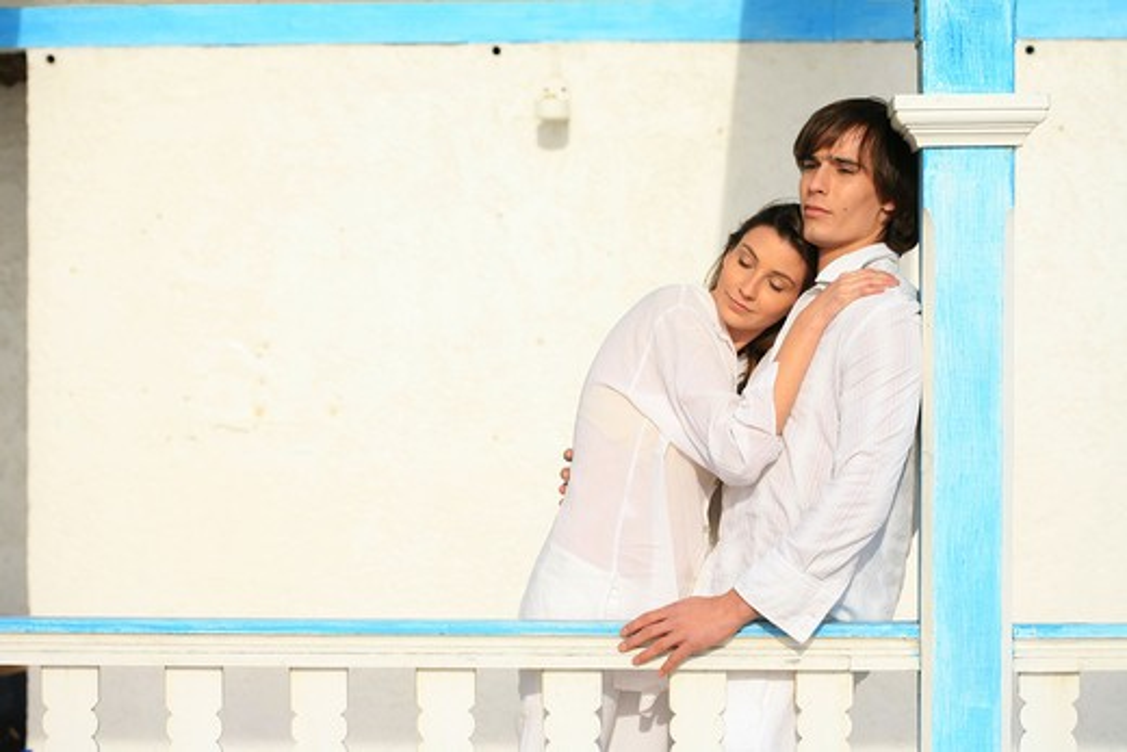 Couple balcony : Stock Photo