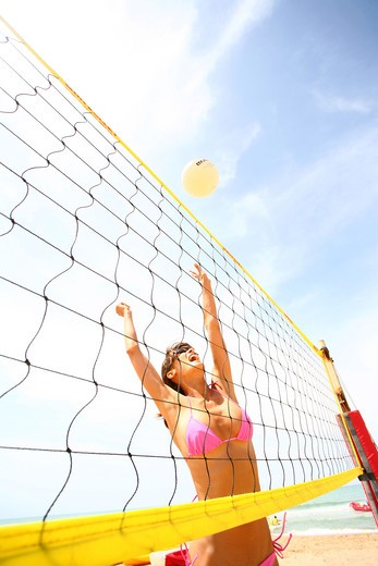 Stock Photo: 4252-8241 Woman beach volley