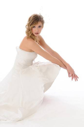 Stock Photo: 4252-870 Woman wedding dress
