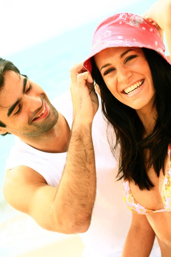 Stock Photo: 4252-8774 Couple laughing