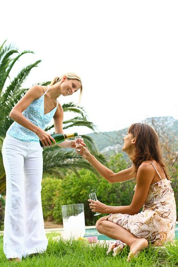 Stock Photo: 4252-9167 Women champagne