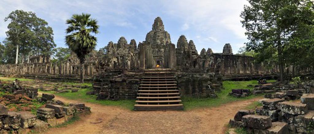 Stock Photo: 4255-1033 Cambodia, Angkor Thom, Bayon Temple,