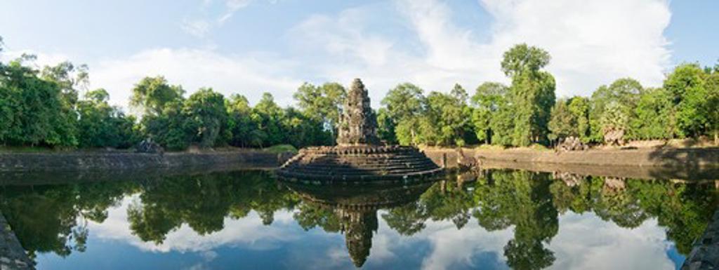 Cambodia, Angkor Wat, Neak Pean Temple, : Stock Photo