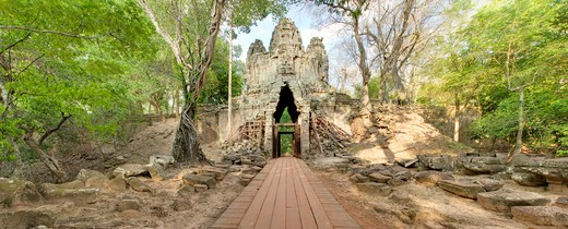 Cambodia, Angkor Wat, Angkor Thom, West gate : Stock Photo