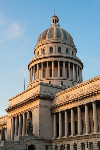 Stock Photo: 4256-1061 Exterior of Capitol building in morning light,City of Havana, Havana, Cuba, Caribbean