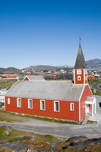 Stock Photo: 4256-1219 Frelsers Kirke church,Nuuk (Godthab), Kitaa, Greenland, Europe