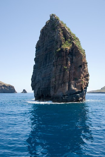 Stock Photo: 4256-1253 Faraglione rock formation, near Lipari, Aeolian Islands, near Sicily, Italy, Europe