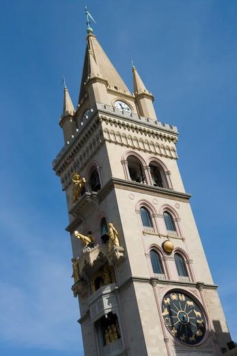 Stock Photo: 4256-1260 Duomo clock tower,Messina, Sicily, Italy, Europe