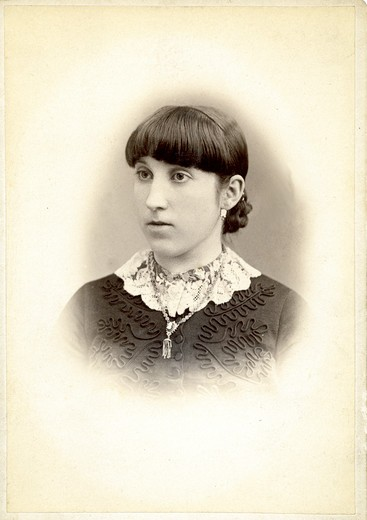 Portrait of a woman from the late 19th century : Stock Photo
