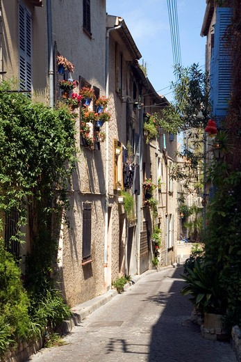 Stock Photo: 4261-100307 Foreshortening, Antibes, Cote d'Azur, French Riviera, Provence, France, Mediterranean, Europe