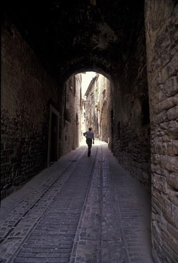Foreshortening, Spello, Umbria, Italy : Stock Photo
