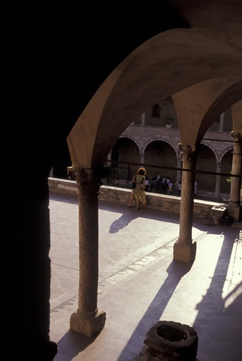 Sisto V cloister, Assisi, Umbria, Italy : Stock Photo